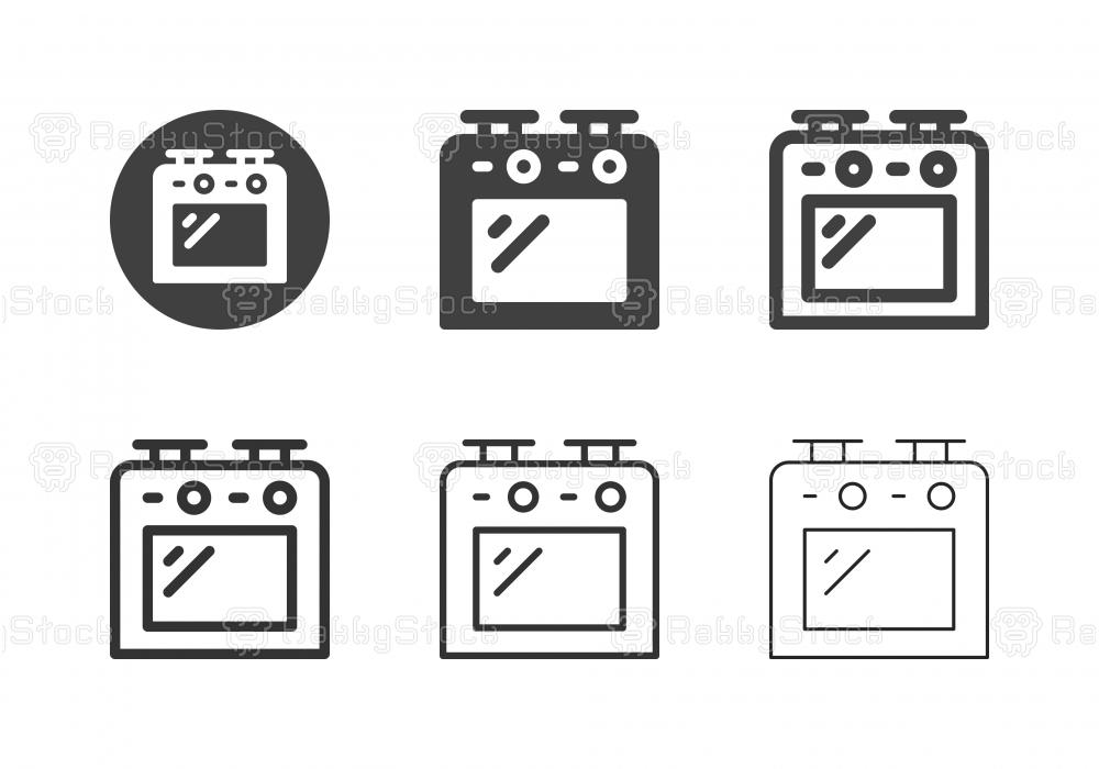 Burner Stove Icons - Multi Series