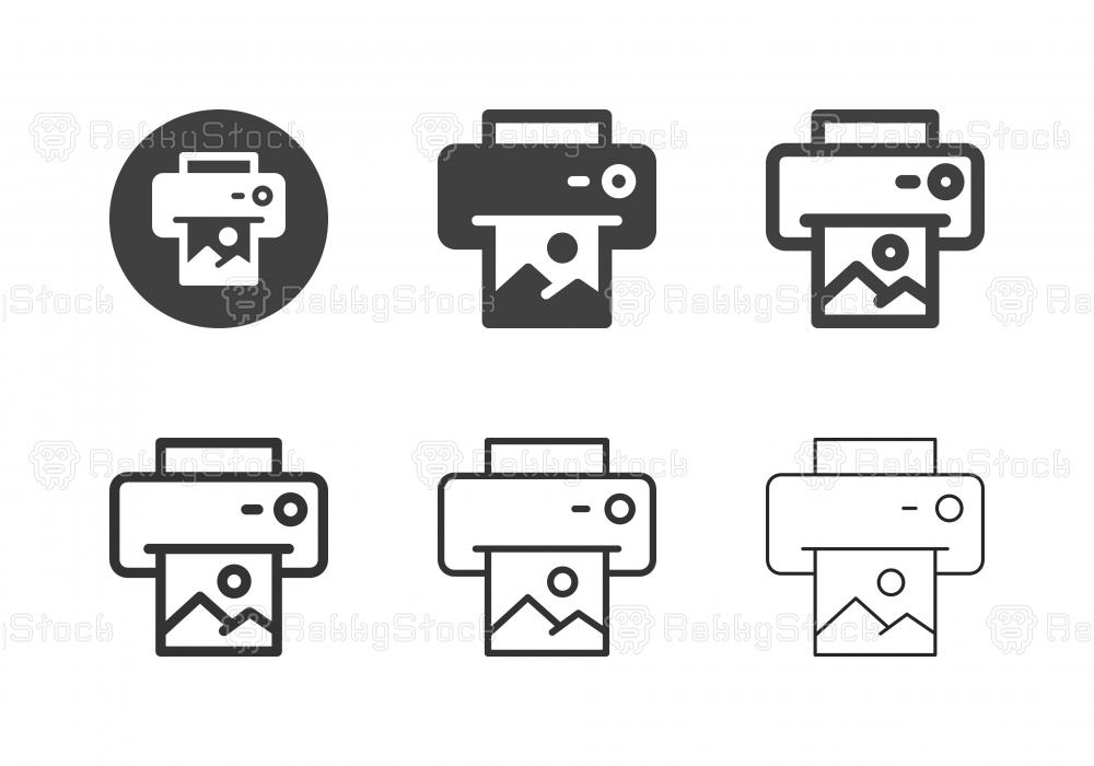 Image Printing Icons - Multi Series
