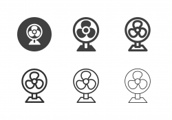 Electric Fan Icons - Multi Series