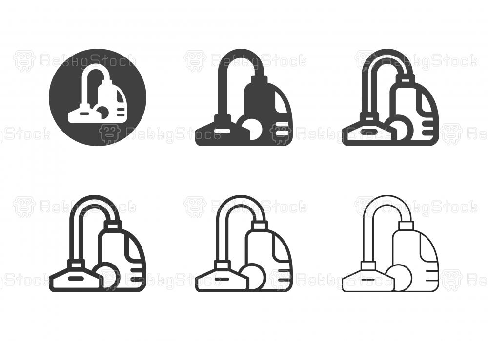 Vacuum Cleaner Icons - Multi Series