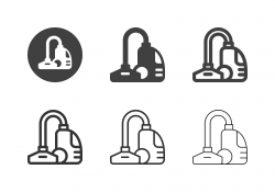 Vacuum Cleaner Icons - Multi Series