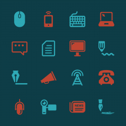 Communication Icons Set 2 - Color Series | EPS10