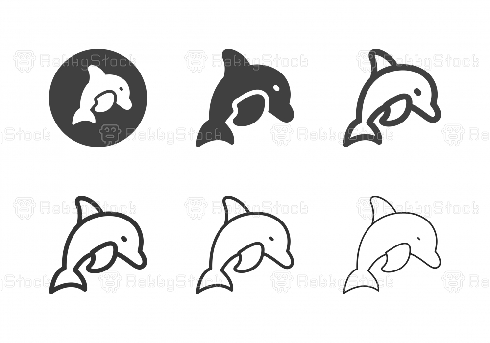 Dolphin Icons - Multi Series