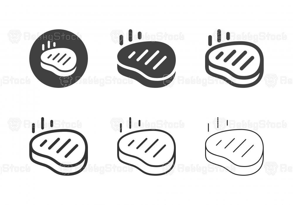 Beef Steak Icons - Multi Series
