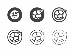 Prawn Seafood Icons - Multi Series