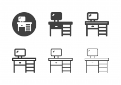 Office Desk Icons - Multi Series