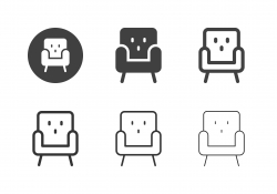 Sofa Chair Icons - Multi Series