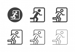 Exit Sign Icons - Multi Series