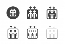 Elevator Sign Icons - Multi Series