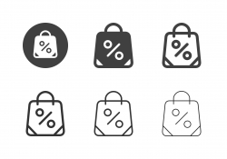 Shopping Bag Icons - Multi Series