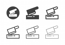 Meat Cleaver Icons - Multi Series