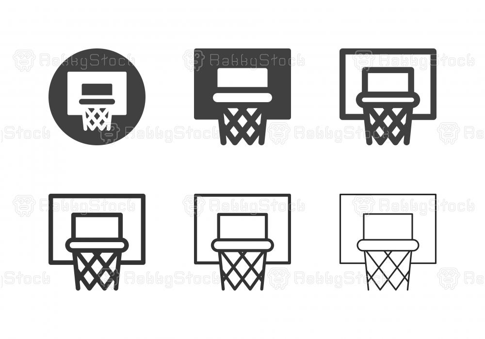 Basketball Hoop Icons - Multi Series