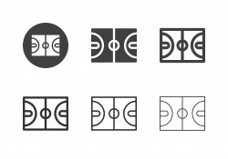 Sports Court Icons - Multi Series