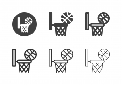 Basketball Hoop Ring with Ball Icons - Multi Series