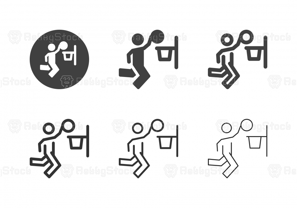 Basketball Layup Icons - Multi Series