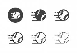 Speed Baseball Icons - Multi Series