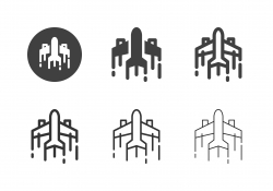 Faster Plane Icons - Multi Series