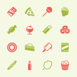 Junk Food Icons - Color Series   EPS10