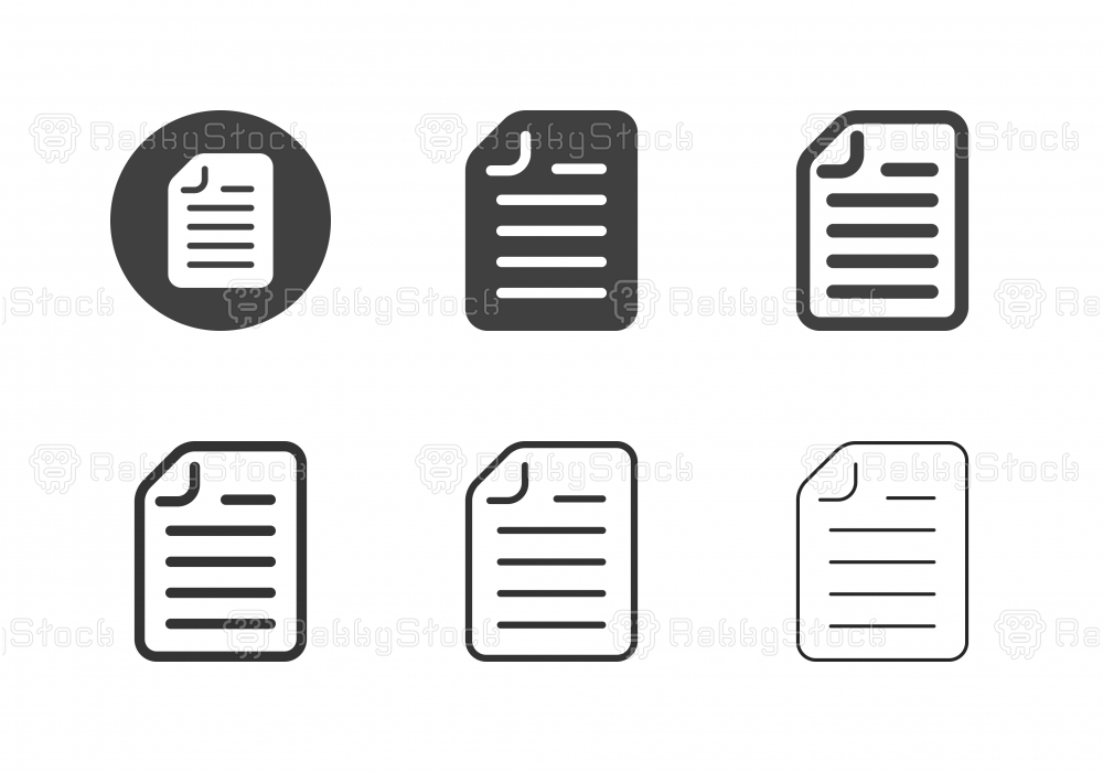 Form Document Icons - Multi Series