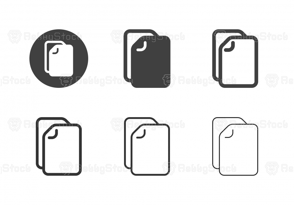 Blank Document Icons - Multi Series