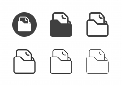 File Folder Icons - Multi Series