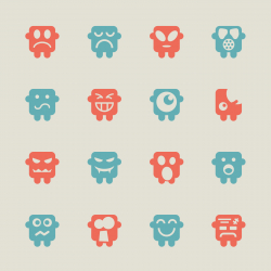Emoticons Set 6 - Color Series | EPS10