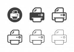 Computer Printer Icons - Multi Series