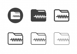 Compress Folder Icons - Multi Series