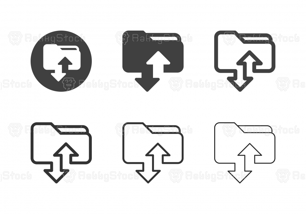 File Transfer Icons - Multi Series