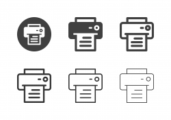 Letter Printer Icons - Multi Series