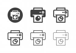 Reportage Printing Icons - Multi Series