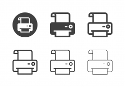 Print Sign Icons - Multi Series