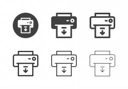 Paper Output Icons - Multi Series
