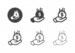 Hand Receiving Coin Icons - Multi Series