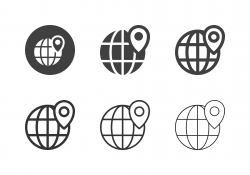 Global Positioning Icons - Multi Series