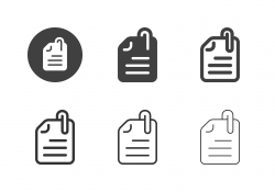 Document Paper Clip Icons - Multi Series