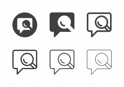 Speech Bubble Search Icons - Multi Series