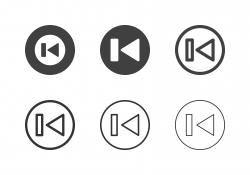 Previous Button Icons - Multi Series