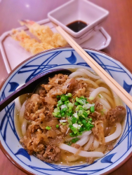 Beef Noodle with Prawn Tempura