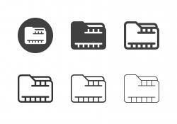 Video Folder Icons - Multi Series