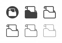Document Folder Icons - Multi Series