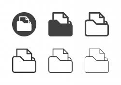 File Folder Icons - Multi Series