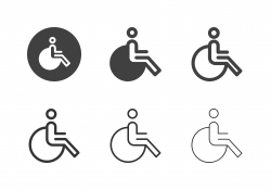Wheelchair Icons - Multi Series