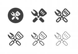 Grill Utensils Icons - Multi Series