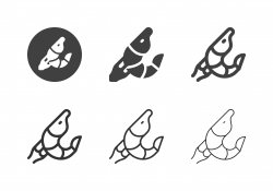 Shrimp Seafood Icons - Multi Series