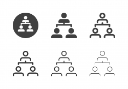Employee Structure Icons - Multi Series