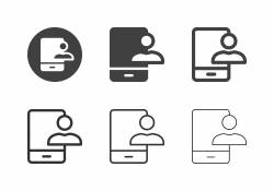 Mobile Contact Icons - Multi Series