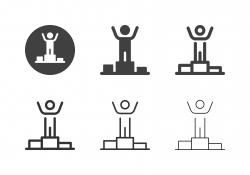Winner Podium Icons - Multi Series