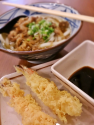 Prawn Tempura with Beef Noodle