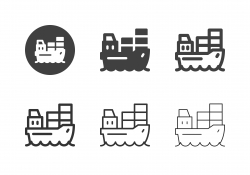 Container Ship Icons - Multi Series